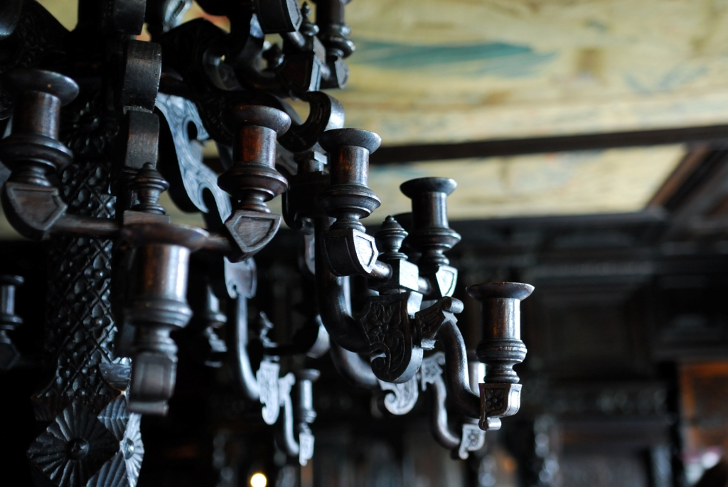 Victor Hugo made this chandelier out of... ?