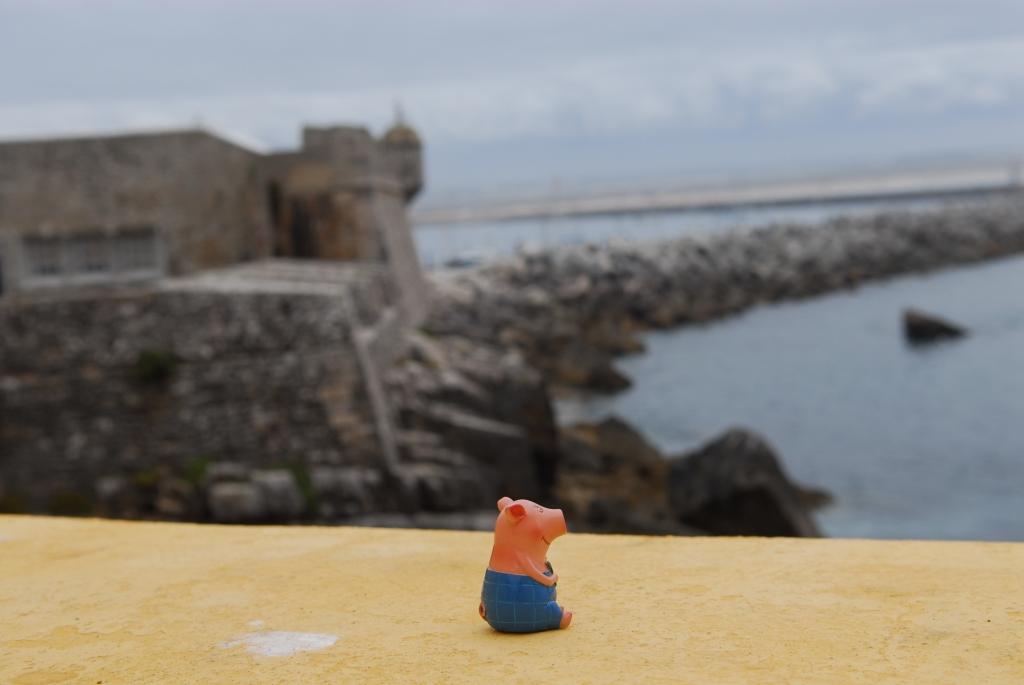 Gustav vor der Flucht aus dem Fort Peniche