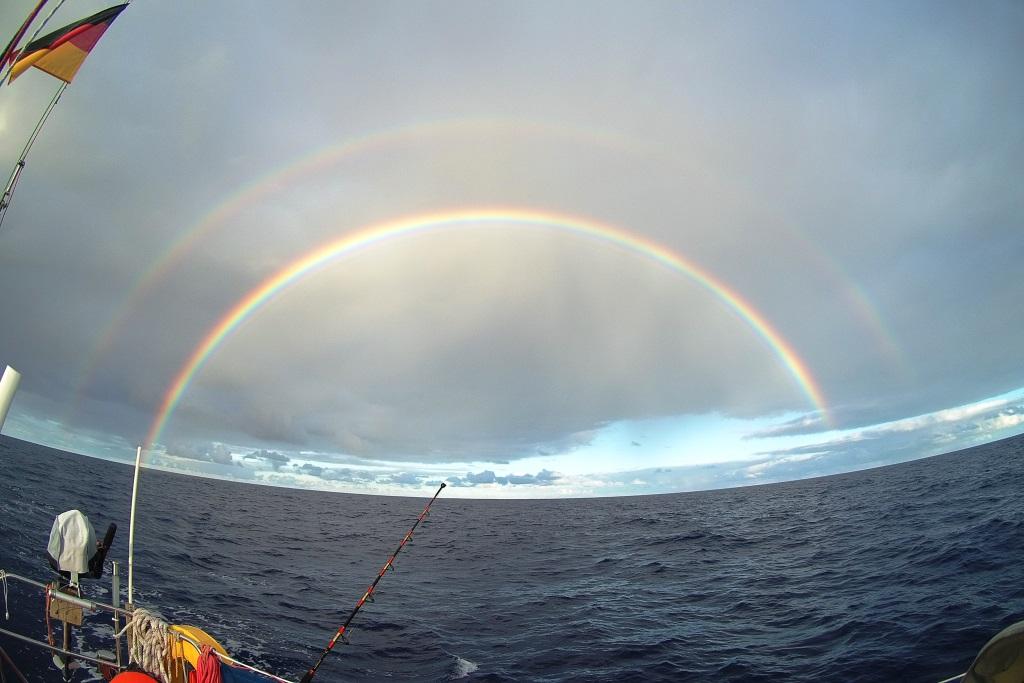 Regenbogen auf der Fahrt nach La Palma