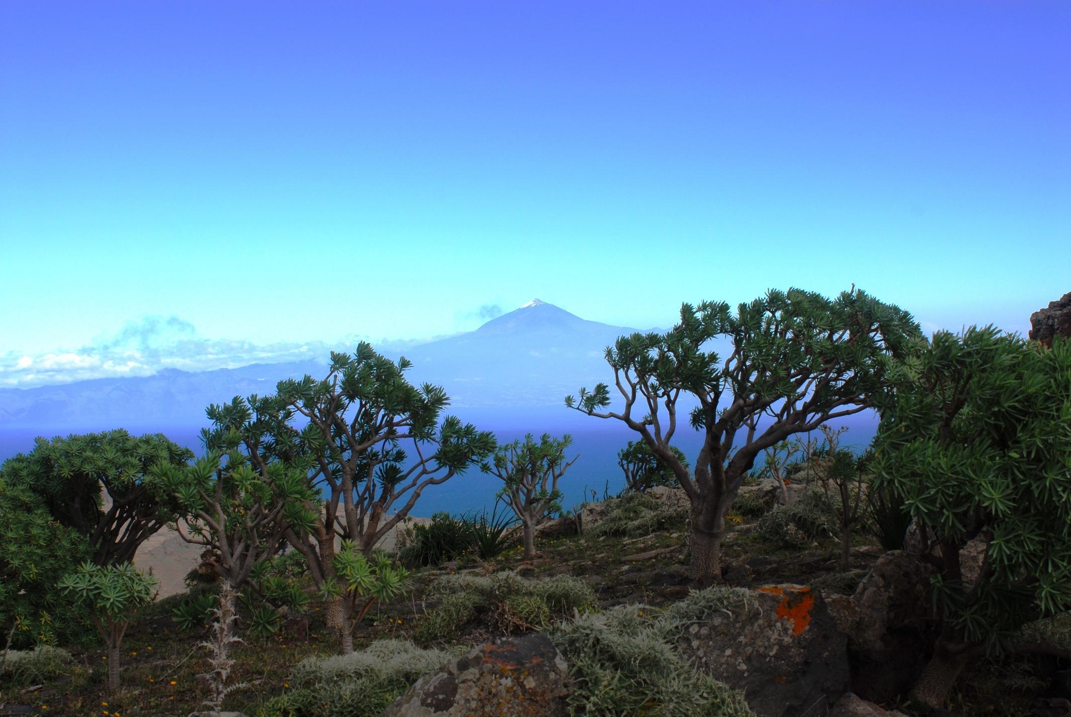 El Teide, Teneriffa von La Gomera aus gesehen