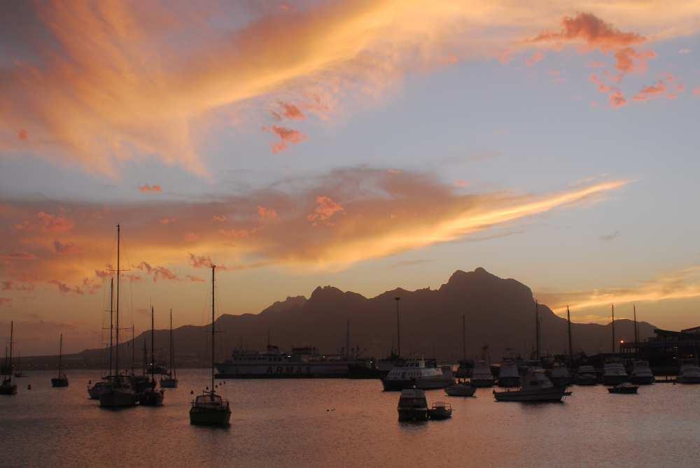 Sunset over Mindelo