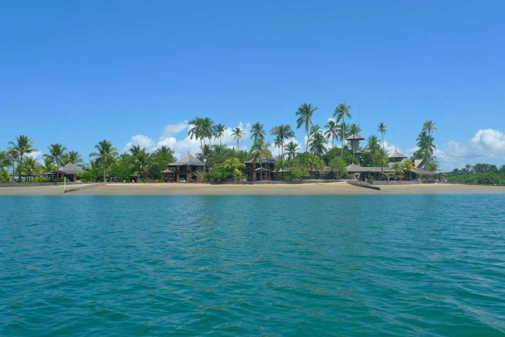 Hotel zwischen Ilha des Frades und Ilha do Bom Jesus