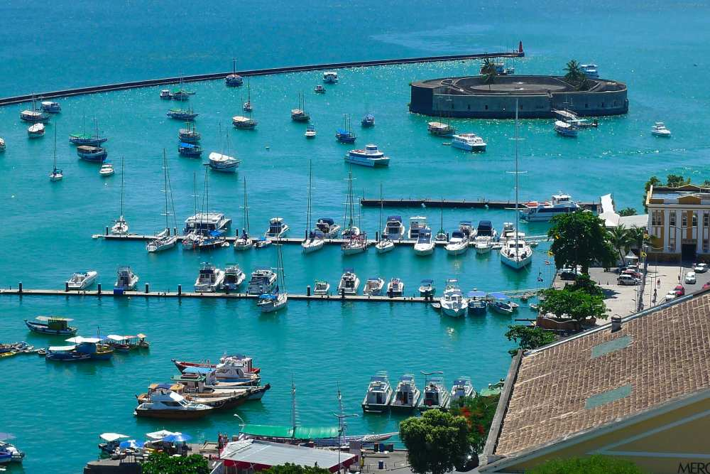 Blick auf Yemanja in der Marina