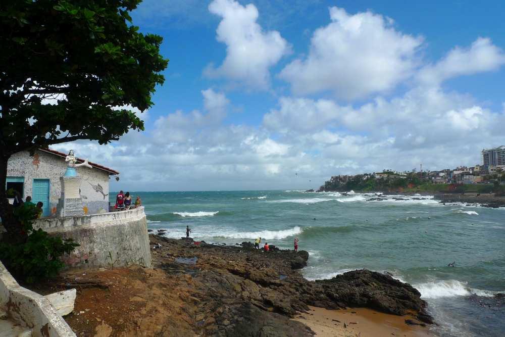Strand in Rio Vermelho beim Casa de Iemanja