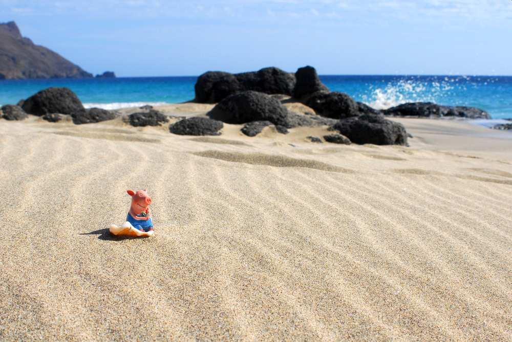 Am Strand von Sao Vicente