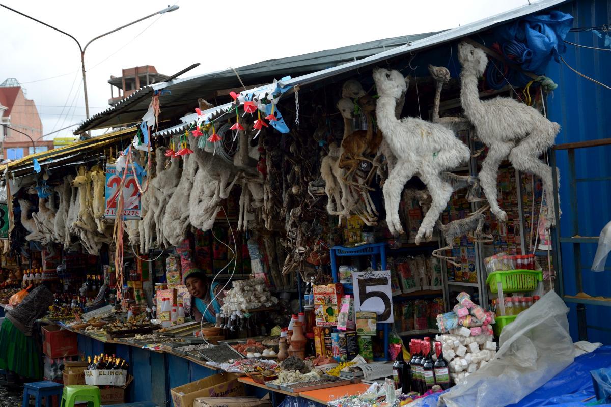 Hexenmarkt in El Alto, Bolvien; Witchmarket