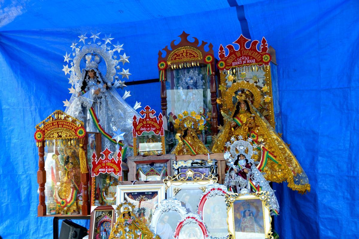 Kommerzielle Kopien der Virgen do Copacabana