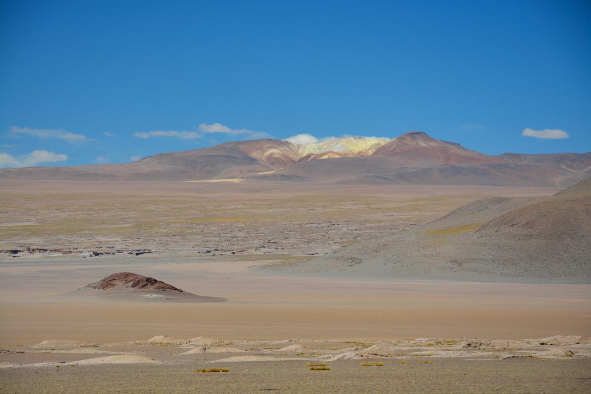 Solar de Uyuni Tour von Tupiza aus, 2. Tag: Lagune, Flamingos, Vulkane - der Uturuncu