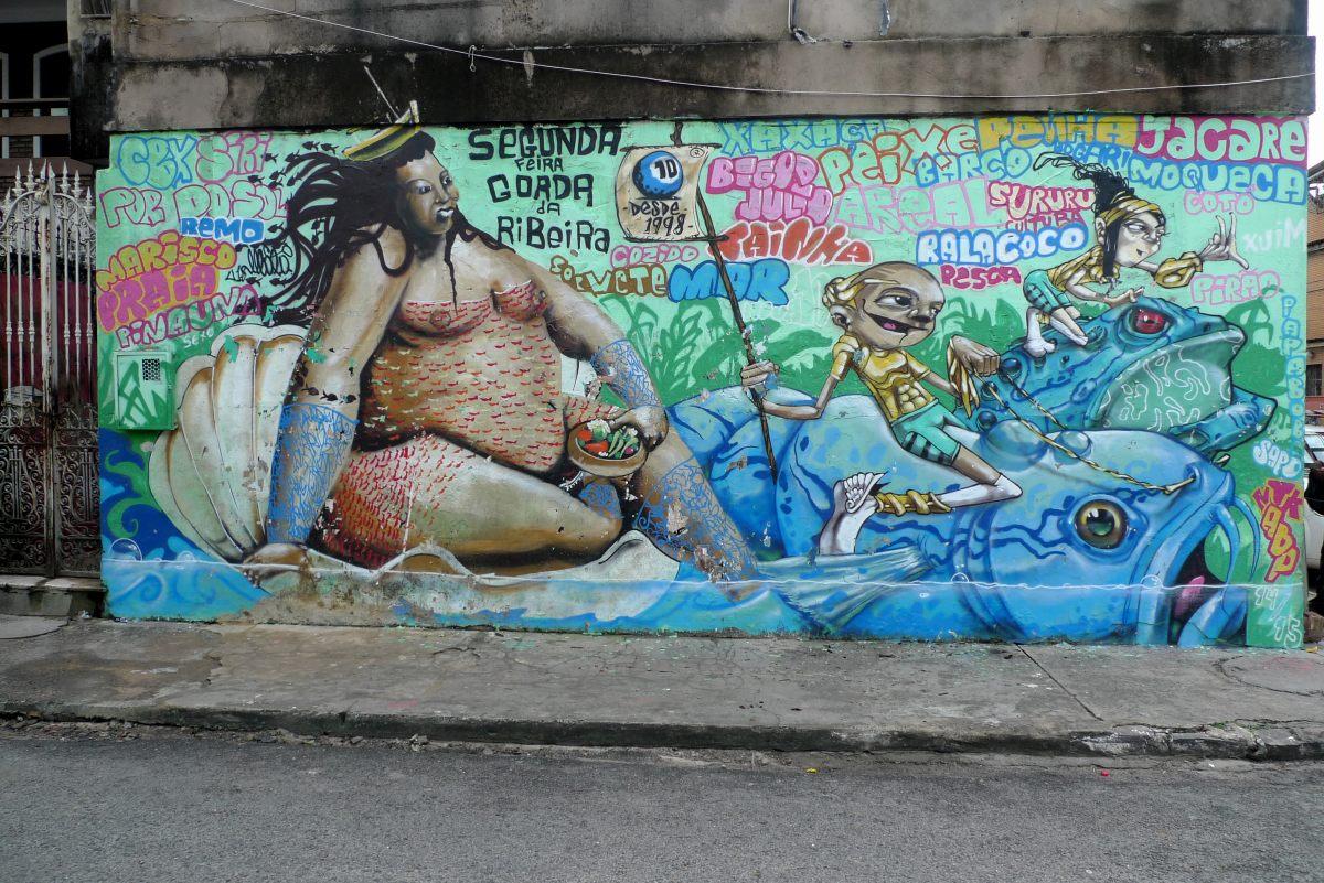 Grafitti in Ribeira, Savador, Brasilien