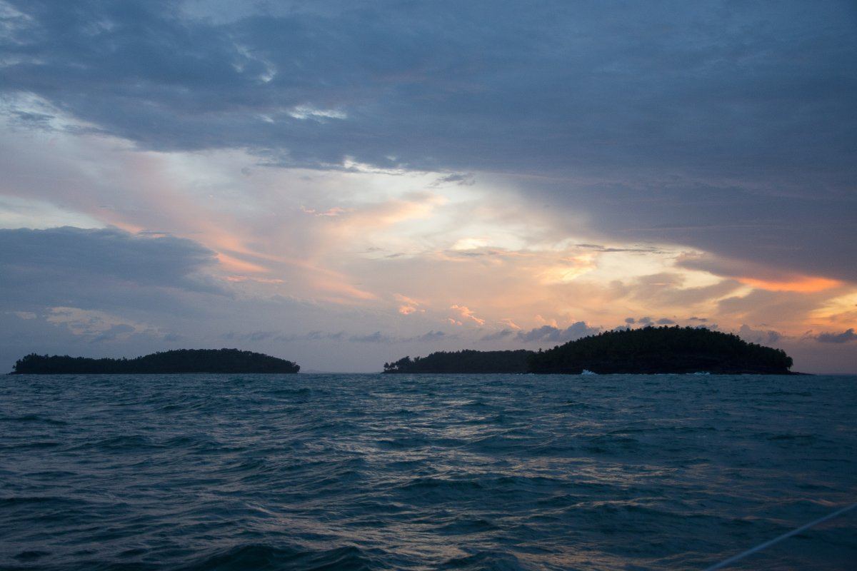 Im Anflug auf die Iles du Salut