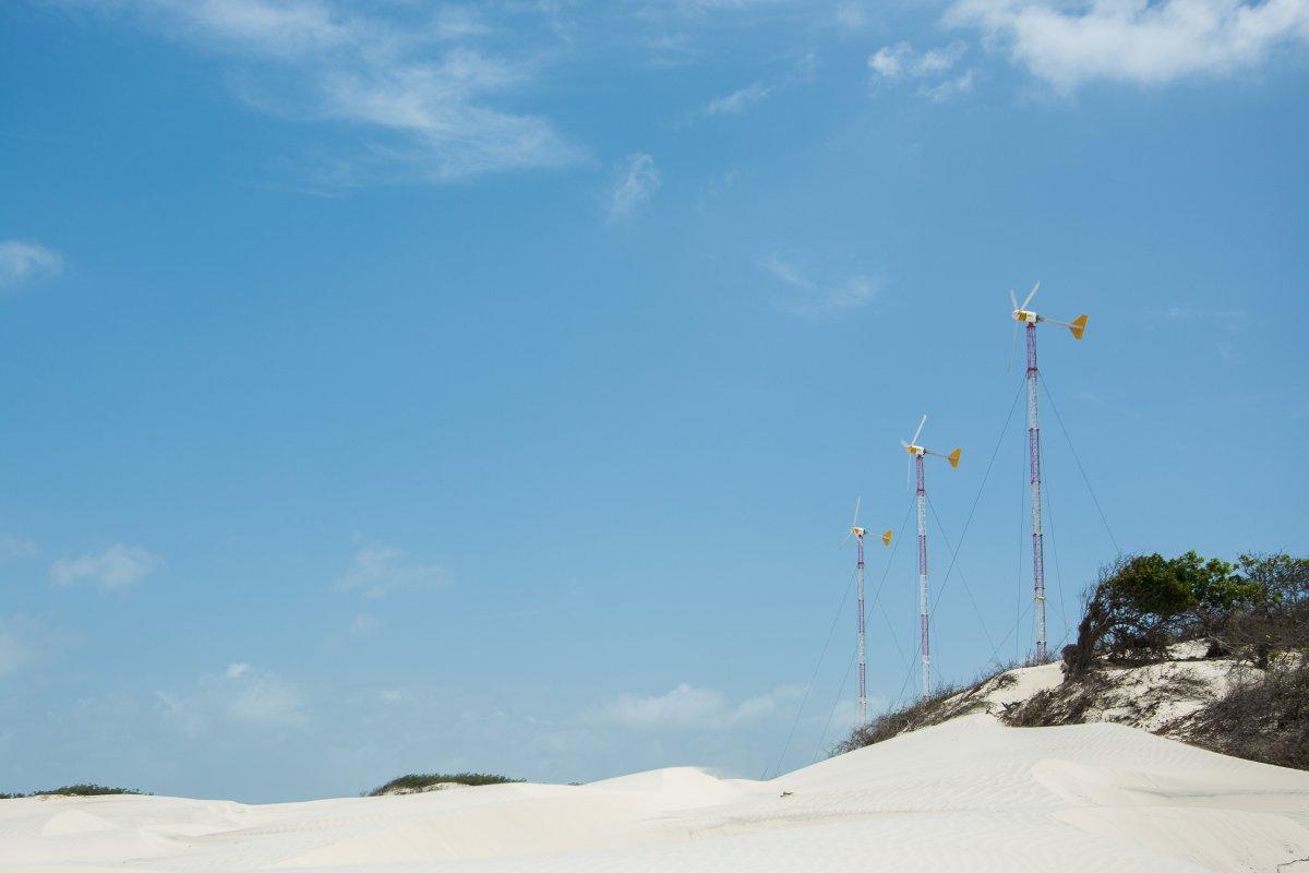 Die Windräder von Lencois