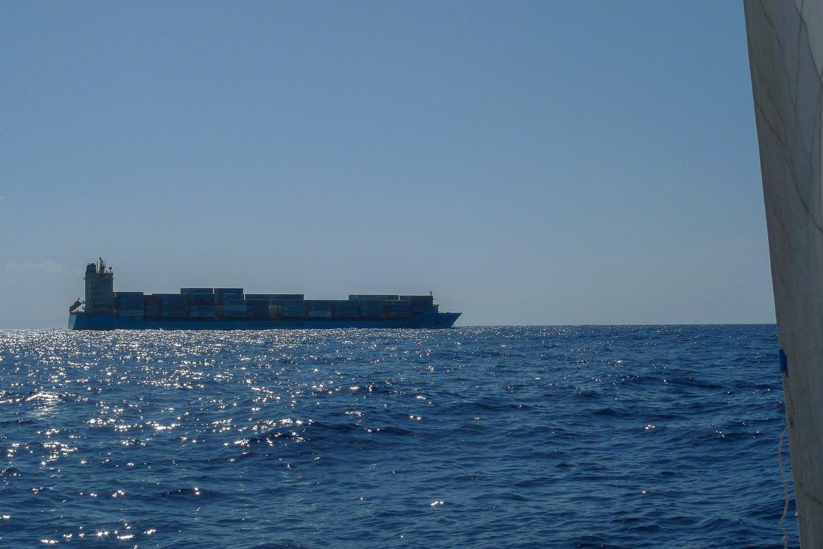 Ein Schiff voller Maersk-Container - ein Foto für meine Freundin Melisa