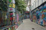 Straße der Grafittis in Gent
