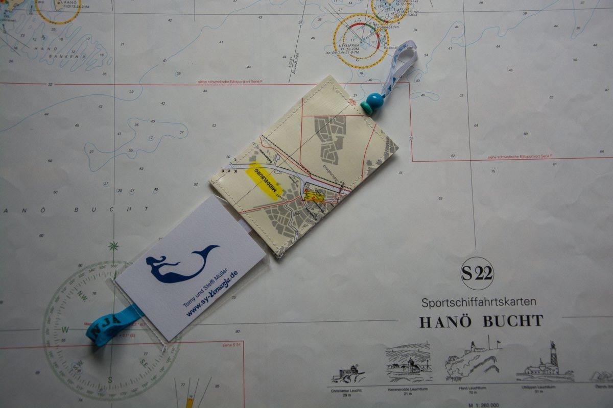 Wie du aus einer (See)karte einen Kofferanhänger nähst