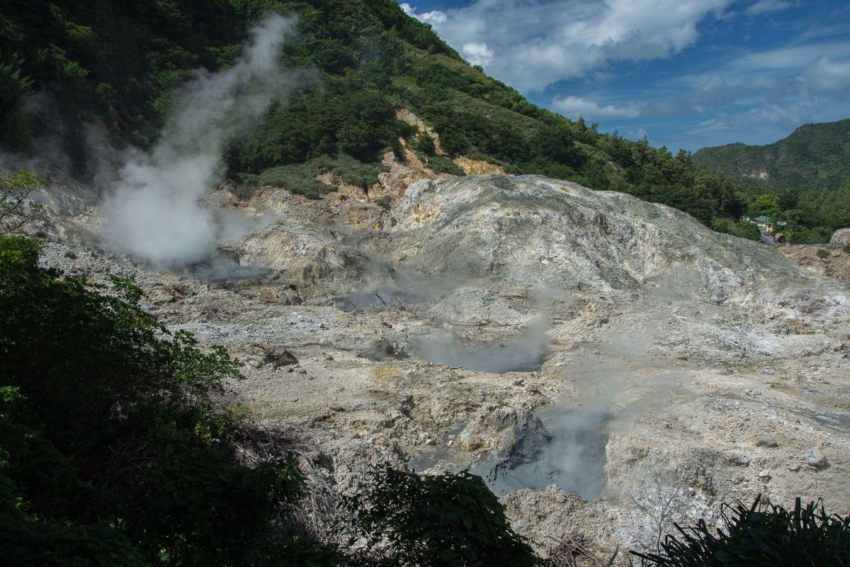 Drive-in-vulcano, Soufriere, St. Lucia