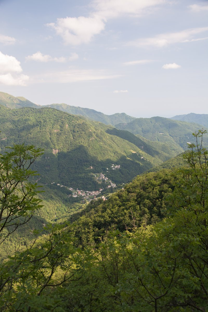 Berglandschaft um den Naturpark Aveto, Ligurien
