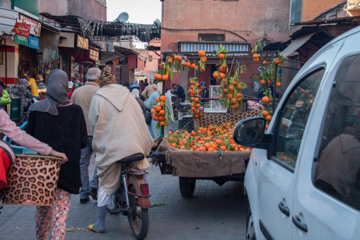Verkehrschaos in Marrakesch