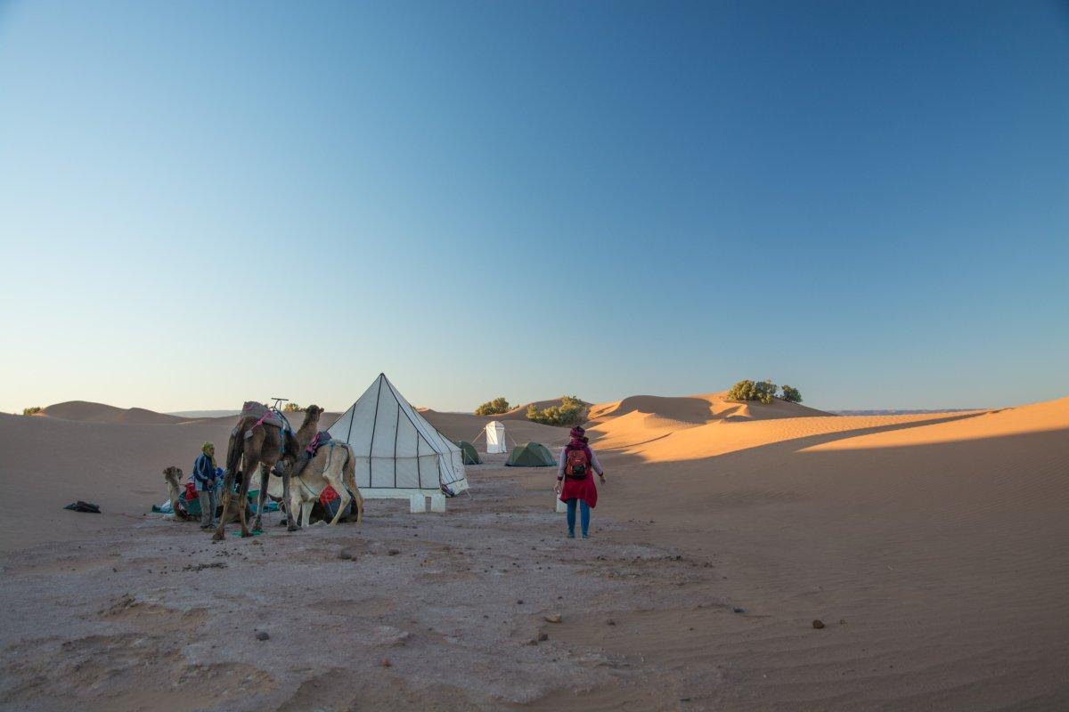 Nachtlager in der Nähe von Ouarzazate